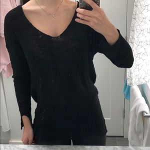 Zara Long Sleeve Knit Top